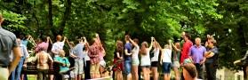 Międzynarodowa potańcówka w starym parku w Staszowie. 18.07.2015.  Zakochaj się w parku!